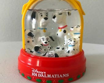 Disney 101 Dalmations Snow Dome Christmas Ornament McDonald's Snow Flurries Happy Meal Exclusive