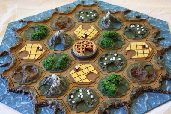 Settlers Of Catan 3d Printed Magnetic Game Board Etsy