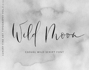 Calligraphy Font Modern Calligraphy Digital Fonts Wedding   Etsy