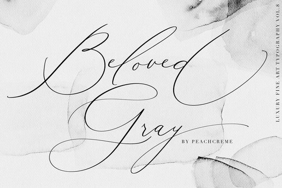 Calligraphy Font Modern Calligraphy Digital Fonts Wedding Etsy