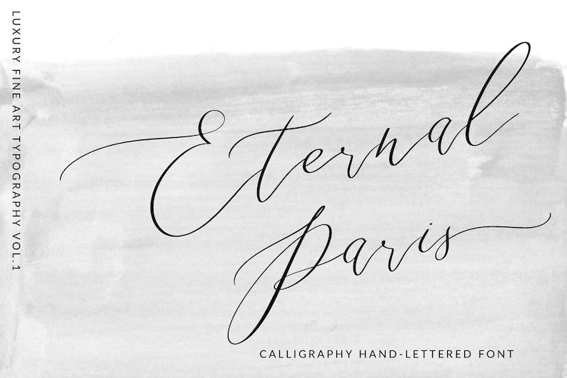 Calligraphy Font, Modern Calligraphy, Digital Fonts, Wedding Font,  Invitation Font, Script Font, Digital Download, Font, Eternal Paris Font