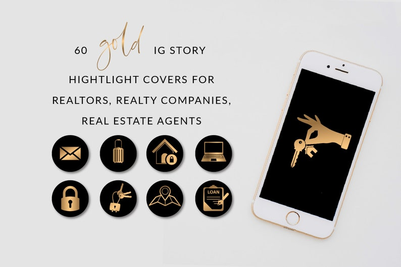 Amanda Realty Instagram Story Highlights, Ready to use Gold IG Highlight  Icons, Story Highlight Covers, DigitalDownload, Instagram icons set