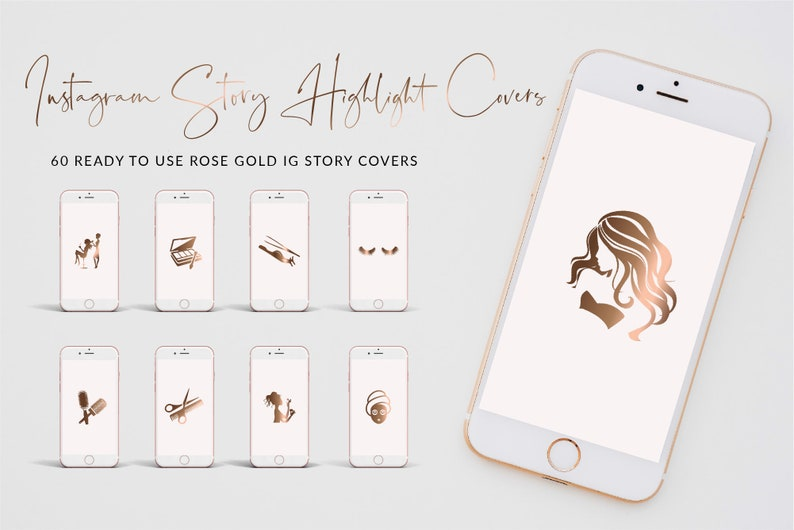 Sophia IG Story Covers, Ready to use Rose Gold Instagram Story Highlight  Icons, Story Highlight Covers, Digital Download, Instagram icon set