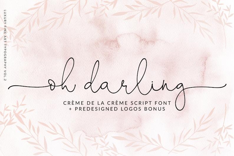 Wedding Calligraphy Fonts.Calligraphy Font Modern Calligraphy Digital Fonts Wedding Font Invitation Font Script Font Digital Download Font Oh Darling Font