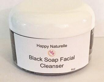 Black Soap Facial Cleanser | Face Treatment | Organic Remedy | Acne Treatment | Face Wash | Black soap paste| savon visage