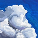 FINE ART PRINT, sky, wall art, canvas reproductions, vertical paintings, clouds, cloudscape, trees, skyscape