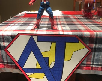 Marvel/Super Hero Table sign (personalized)