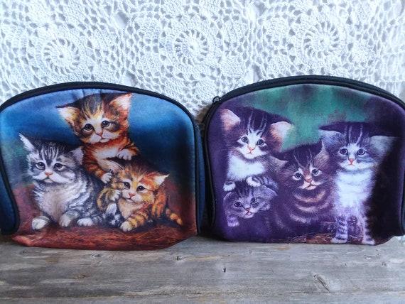 Makeup Bag, Cosmetics Bag, Cat Makeup Bag, Cat Ba… - image 1