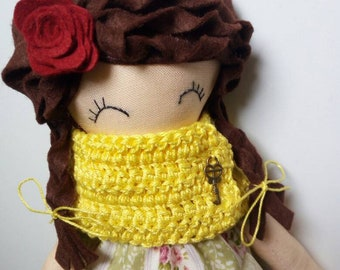Catherine Garden of Roses collection with yellow scarf