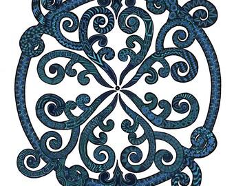 Tree Fern Blue