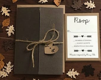 SAMPLE: Rustic Wedding Invitation