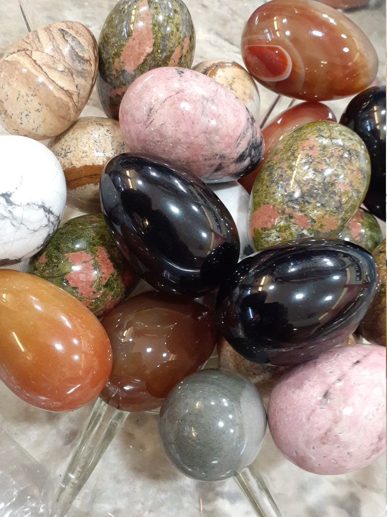 Wholesale Yoni Eggs Box 30 or 20 count Unique stones image 0