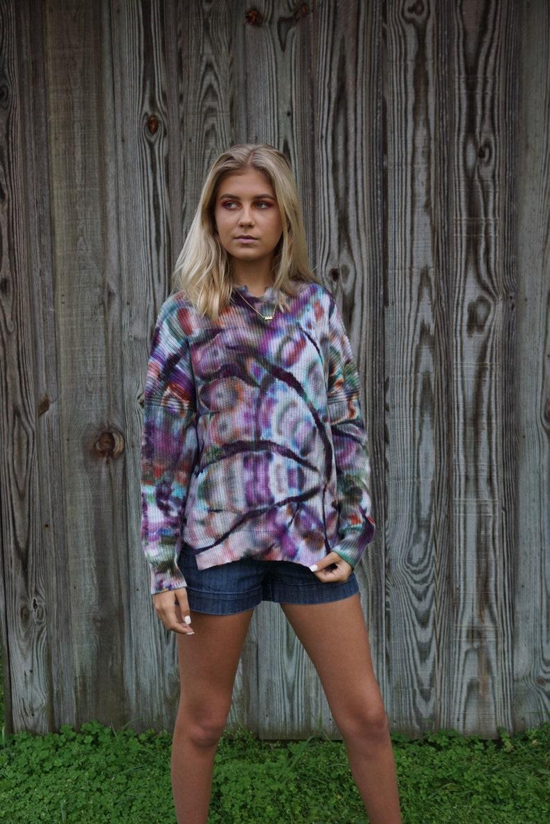 OOAK Tie Dye Boho Summer Sweater Small Medium
