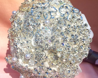 Brooch Bouquet, wedding bouquet, custom bridal bouquet, custom broooch bouquet, made to order bouquet, jewelry bouquet