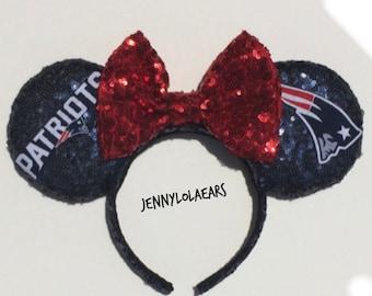 d8841b011423e New England Patriots Mickey Mouse Minnie Mouse Ears headband