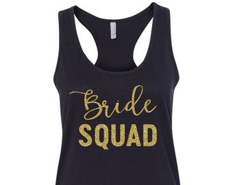 GLITTER Bridal Party Tank Tops, Bride Tank Top, Bridesmaid Tank Top, Maid of Honor Tank Top, Bachelorette Party, BFCN