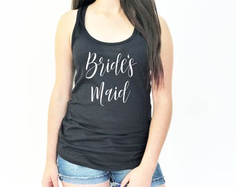 Bridal Party Tank Tops, Bride Tank Top, Bridesmaid Tank Top, Maid of Honor Tank Top, Bachelorette Party, 1533 M