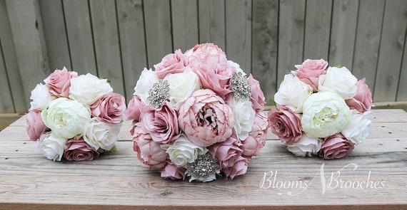 Altrosa Und Elfenbein Hochzeit Bouquet Hochzeitsblumen Etsy
