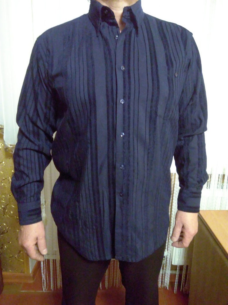 4729e1b9721 Dark blue shirt Roberto Cavalli size 48 oversized clothes