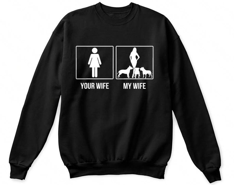 Your Wife My Wife Pitbull Shirt My Wife Bunny Shirt My Wife Etsy
