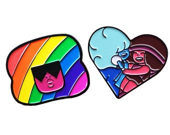 Garnet, Ruby, and Sapphire Steven Universe Enamel Pin Set