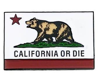 California Or Die Enamel Pin