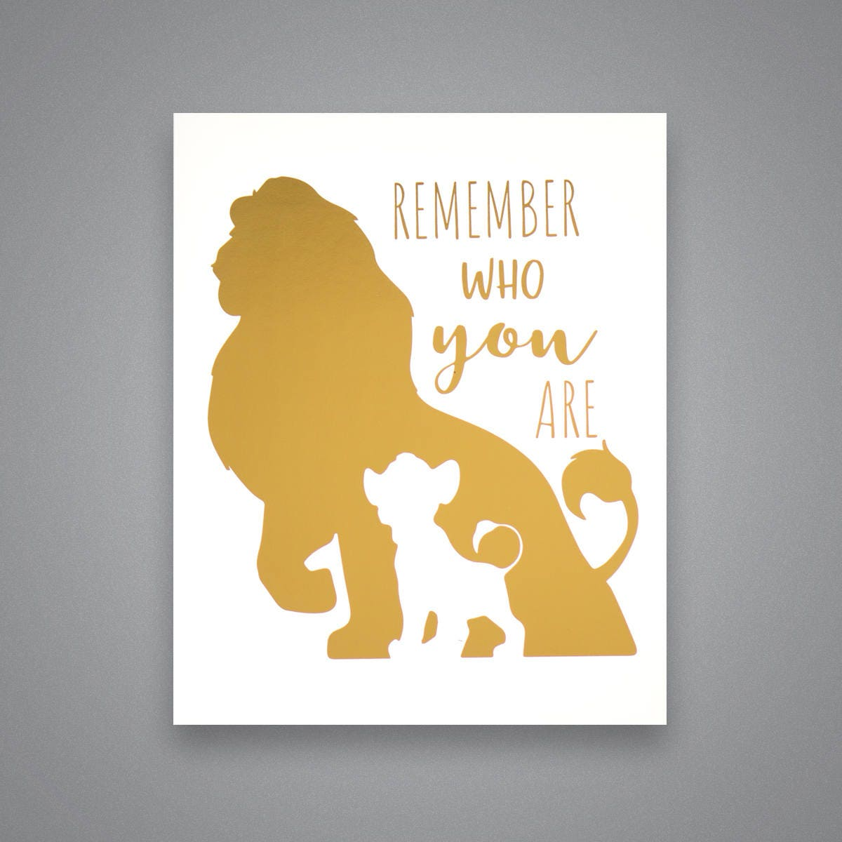 Disney The Lion King Remember Who You Are Simba Mufasa Gift | Etsy