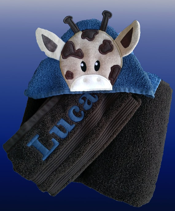 3D Giraffe Hooded Towels-Girl Giraffe Hooded Towel-Boy Giraffe Hooded Towel-Giraffe Hooded Towel-Character Towel-Baby Giraffe Towel