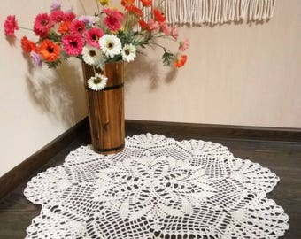 Crochet round doily Lace doily  Rustic home decor Summer doilies Gift for mom