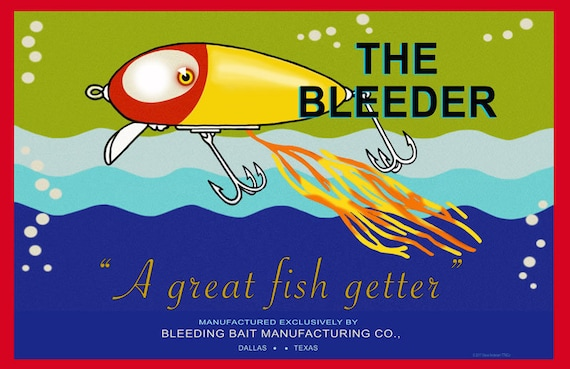 """24/"""" X 16/"""" Reproduced Vintage Bomber Lures Canvas Banner"""