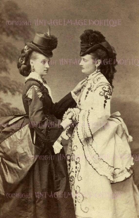 Lovely Antique Edwardian Lesbian Couple On Bicycles Wedding Civil Partnership Wedding 5x7 Greeting Card