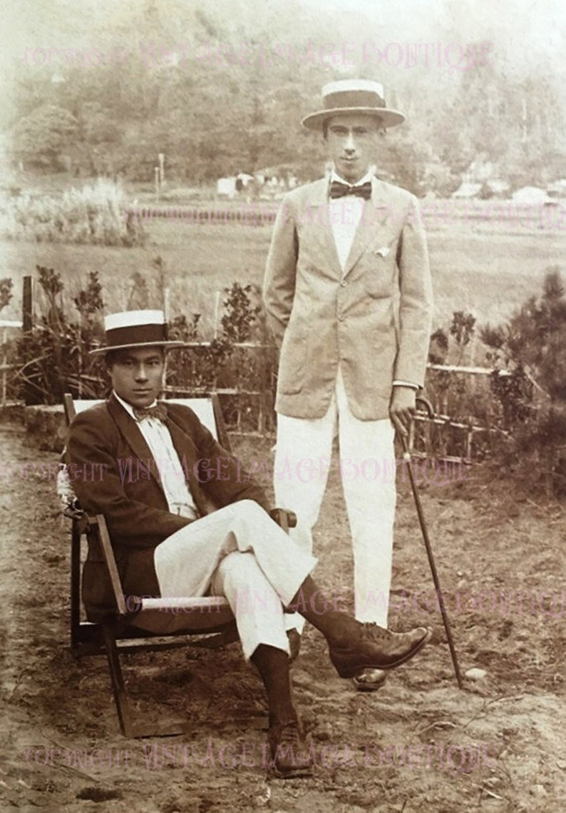 Auguri Matrimonio Giapponese : 1920 bella uomini giapponesi gay coppie amorose in cappelli etsy