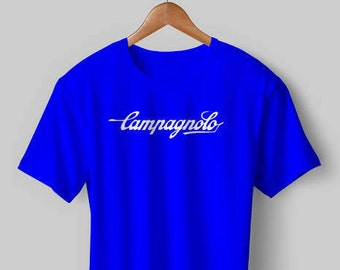 NEW Vintage Campagnolo Cycling T Shirt Blue White Jersey Eroica bike bicycle  11 Fathers Birthday Day Gift 0058da069