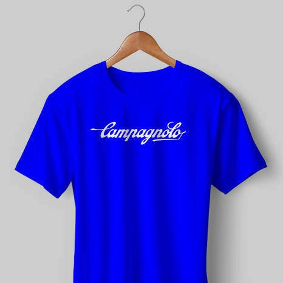 NEW Vintage Campagnolo Cycling T Shirt Blue White Jersey  55138b5f9