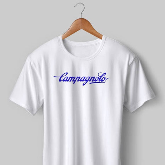 NEW Vintage Campagnolo Cycling T Shirt White Blue S M L XL XXL  555109677