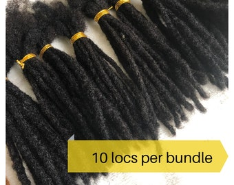 Human Hair Dreadlocks extensions. 100% Afro Kinky Dreadlocks Extensions. Bundles of 10 locs.