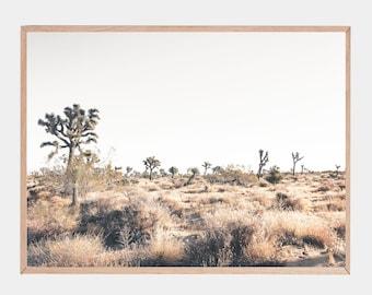 Joshua Tree Poster, Mojave Desert, National Park Print, Travel Poster, Desert Wall Art
