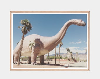 Dinosaur Print, Nursery Wall Art, Dinosaurs, Dino Decor, Cabazon Dinosaurs, T-Rex, Nursery Prints