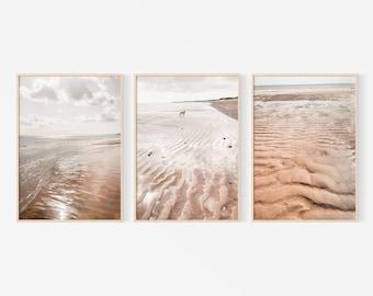 Beach Print Set, Set 3 Piece Wall Art, Set of 3 Prints, Ocean Print Set, Travel Poster, Staycation