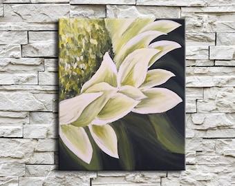 floral art canvas, painting original acrylic, vertical wall art, horizontal painting, daisy painting original art impasto flower artwork