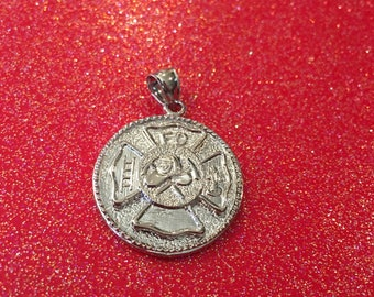 Fire Fighter Medallion Pendant Only