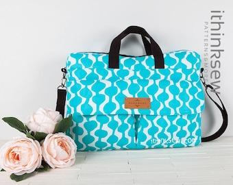 Lisette Laptop Bag PDF Sewing Pattern