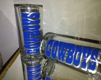 Cowboys Glass Beer Mug
