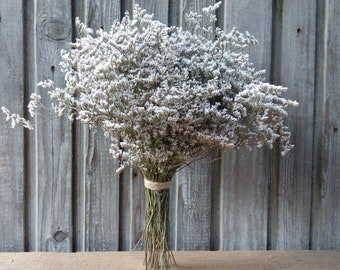 White dried flowers etsy statice dried flower bouquet dried caspia flower bouquet of natural dried white flowers bunch of dried white limonium caspia bouquet mightylinksfo