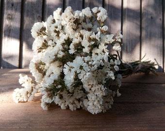 White statice etsy bouquet of dried white limonium white statice bouquet dried wedding flower bouquet a bunch of dried white flowers flower arrangement mightylinksfo