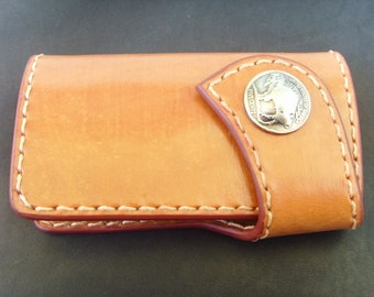 Leather key holder with concho, keychain, key pouch, handmade key case, housekeeper free delivery