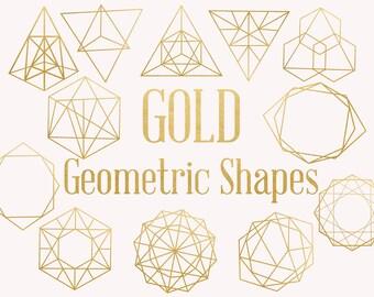 geometric shapes etsygold geometric shapes, gold decorative shapes, astronomy shapes clip art