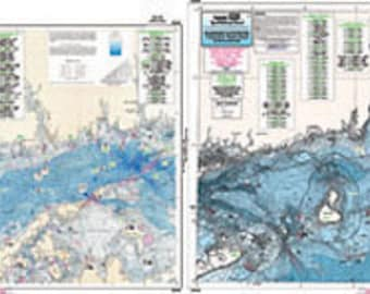 CRM208 Bathymetric Eastern Long Island Sound and Nearshore Nautical Fishing Chart