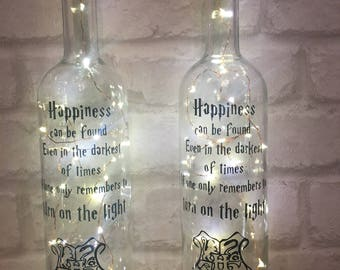Harry Potter night light bottle with quote gift present  !! Last of the stock of these, not to be continued