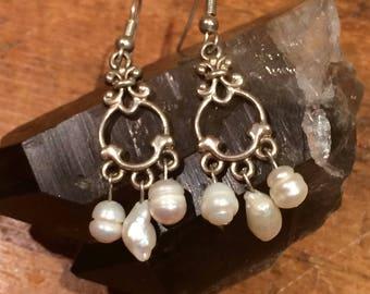The Sea Nymph Freshwater Pearl Earrings